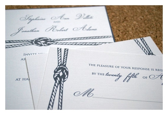 Nautical knot invite