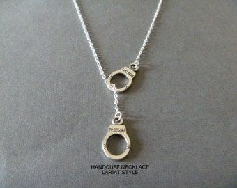 Handcuff Necklace - Handcuff Jewelry - Wild West Charm - Cowgirl Jewelry - Cowboy