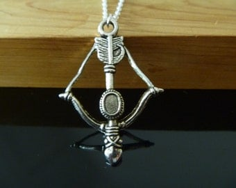 Arrow and Bow Necklace, Hunger Games Inpired Necklace