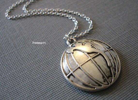 Globe Charm Necklace