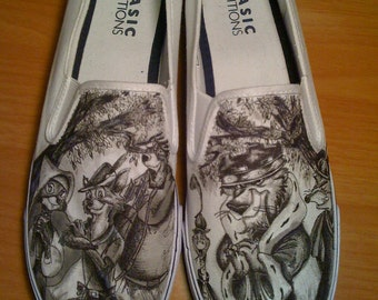 WRAPAROUND ARTWORK Disney Robin Hood Custom Made Shoes Artwork andvShoes INCLUDED