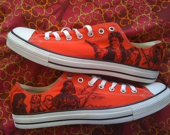 Star Wars Converse Pink or Red ARTWORK and SHOES INCLUDED