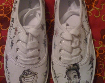 Disney Princess and The Frog Custom Made Shoes For Youth Sizes ARTWORK and SHOES INCLUDED