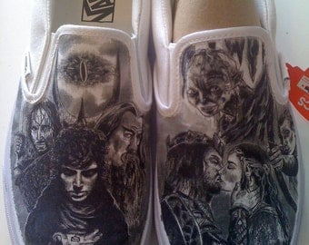 WRAPAROUND Artwork Lord of the Rings Custom Made Shoes Artwork and SHOES INCLUDED
