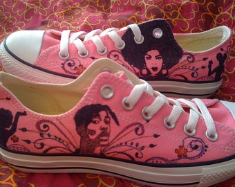 Afro-Centric Pink Converse ARTWORK and SHOES INCLUDED
