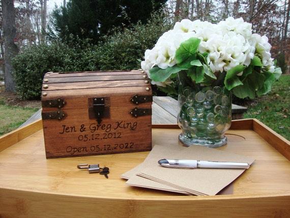 Wedding Guest Book Keepsake Box