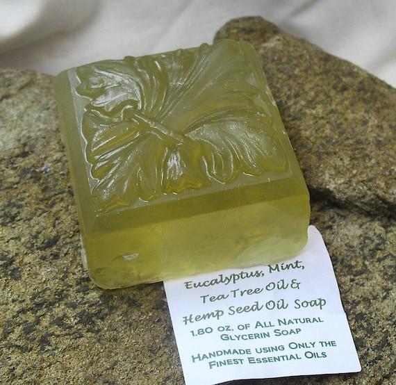 Eucalyptus mint tea tree oil and hemp seed oil glycerin soap