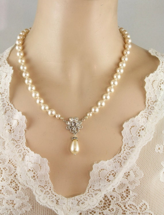 Items similar to bridal set necklace earrings color for Jewelry for champagne wedding dress