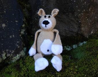Hand knit bear, knit stuffed bear, knit plush bear, knit stuffed animal, plush toy bear, knit bear toy, stuffed toy bear, stuffed toy bear