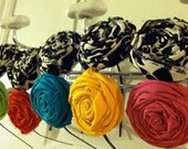 RESERVED FOR ERIN 5 Fabric Flower Headbands