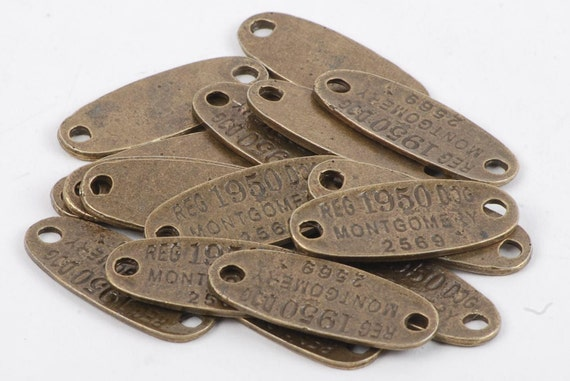 Antique Bronze 32mm Base with 2 Loops - 15 Count