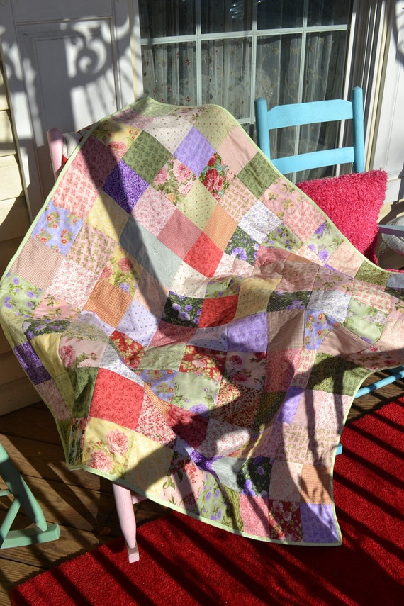 RESERVED FOR FRANK Classic  Spring Colors Picnic Quilt