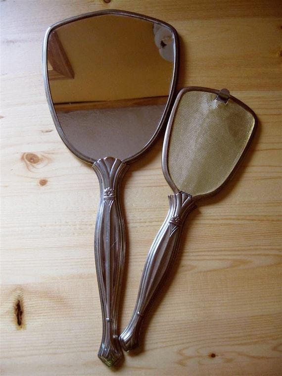 Vintage Hand Mirror Set 40s 50s
