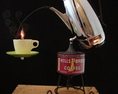 Upcycled Vintage Universal Coffee Percolator Lamp