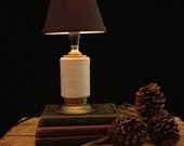 RESERVED / NOT AVAILABLE Upcycled Vintage Textile Mill Thread Spool Lamp
