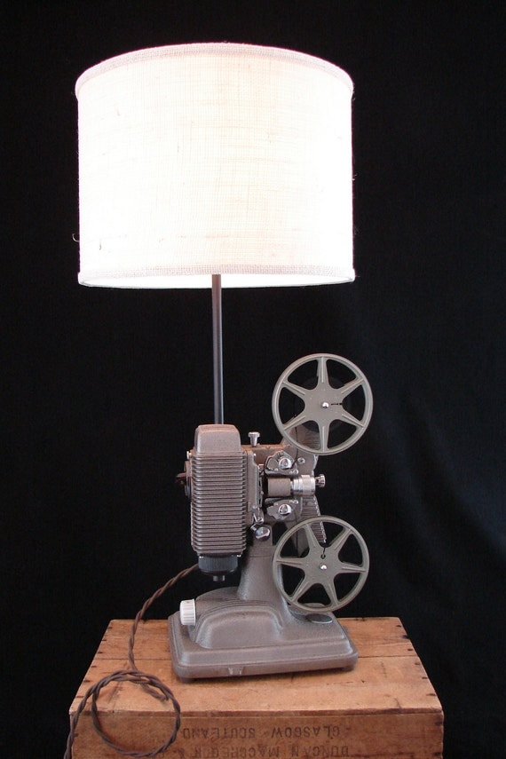 RESERVED for Cedric / Upcycled Vintage Revere 8mm Projector Lamp