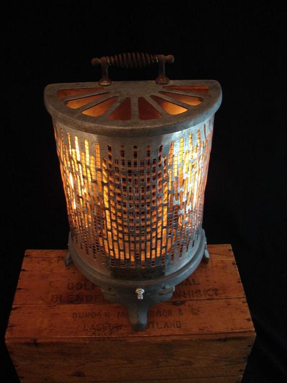 Upcycled Vintage Wesix 1930s Heater Lamp
