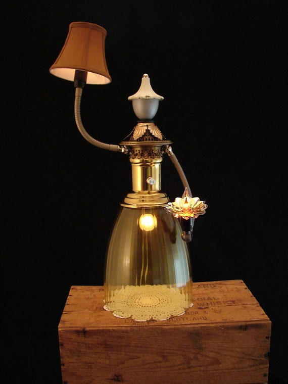 Upcycled Lamp Sculpture Lady Figure