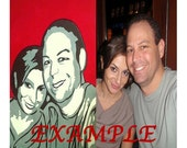 Photo Based Tri-Tone Paper Cutout Collage (Available custom made from any photo)