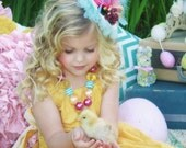 Easter Morning is an adoarble Chunky Bubblegum style necklace with Jewel Pendant...