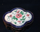 Lovely Vintage hand-painted  Chinese Enamel  Box