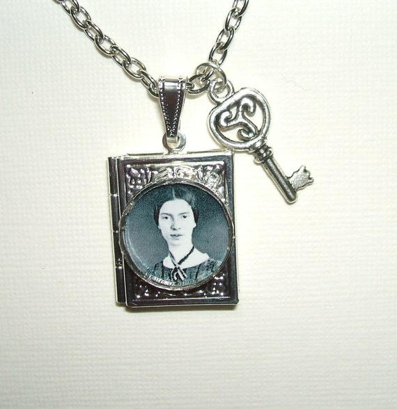 EMILY DICKINSON Necklace BOOK Locket American Poet Literary Great