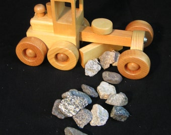 Toy Road Grader made of Pine - about  12 in long