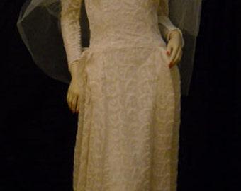Dress Sale-------------Vintage 1920's/1930's Lace WEDDING DRESS