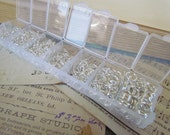 1500pcs Silver Jump Rings Set With Case 3 - 8mm Ships IMMEDIATELY from California - F06