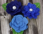 Prima Flowers Hermosa Roses in Blueberry apx 25%OFF- Cute Blue Felt Flowers - Prima - 558024