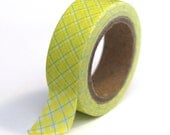 Washi Tape Green and Blue Plaid - 15mm x 10m - TP16