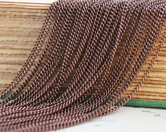 32ft Copper Chain - Curb Chain - Soldered -  1x1.5mm - 10M -  Ships IMMEDIATELY  from California - CH32