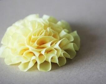 SALE Yellow Flowers -  Fluffy Ruffled Chiffon - 3.5 inch - 4pcs - SFH-0003-SY