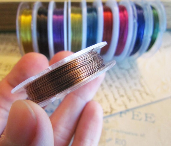 Colored Beading Wires 30M Spools Assorted 10m - Ships Immediately from California - T03