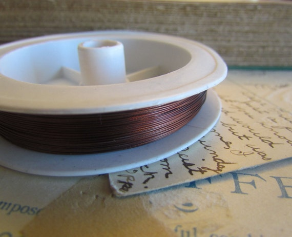 1 Spool Brown Beading Wire 70 Meters - Ships Immediately from California - T05