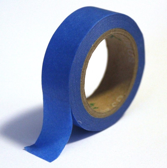 Japanese Washi Tape -  Blue (solid) - 15mm x 10m - TP75
