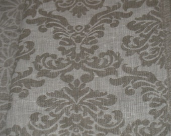 Pure Linen Fabric Natural 100% Flax Gray Grey Heavy Weight Home Decor - ECO-friendly - 1 Yard