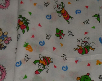 Cotton Fabric Babies Children's Pictures Funny Bees ECO-friendly - 2,7 yards