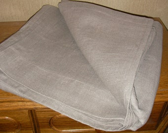 Flat Top Sheet Cover Grey Gray pure linen flax - Washed Softened Medium weight - Twin Full Double Queen King - All size