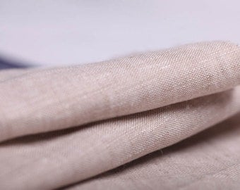 Vintage look Natural Linen Fabric - Handkerchief Linen Fabric - Light Weight fabric  ECO - 1 Yard