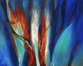Original ABSTRACT Oil Painting ART Artwork from Artist
