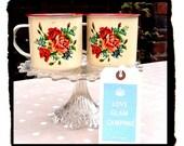 Vintage Style Enamel Glamping Mugs