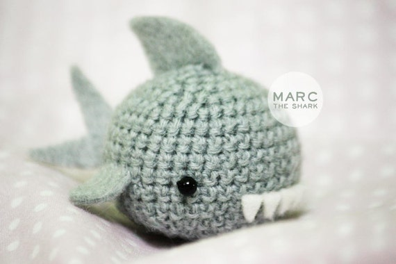Amigurumi Shark Crochet Pattern : Crochet Amigurumi animal Marc the shark