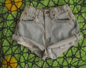 High Waisted Levi Denim Shorts