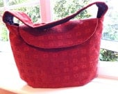 TOTE HANDBAG RUST With Strap For Over Arm Or Shoulder In Warm Fabric