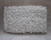 Soft snowball white Bobble Pom Pom Trimming two yards uk seller