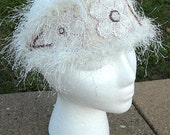 Flapper Cream and Moonstone Fascinator  headband