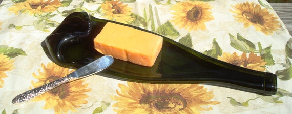 Wine Bottle Serving Tray Cheese Tray