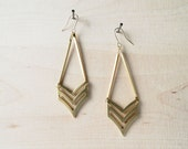 Geometric Earrings : Autumn Jewlery - Chevron Drop Earrings - curiouscreaturesshop