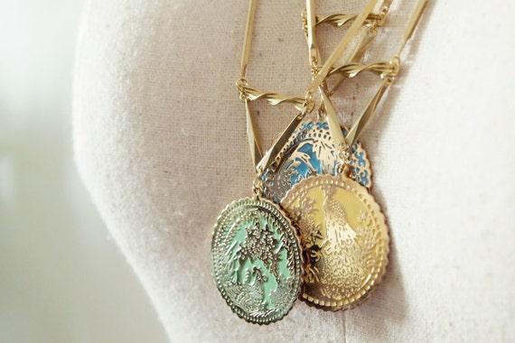 Charm Necklace : Enamel Oriental Charm